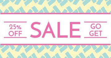 Sale announcement on cute pattern