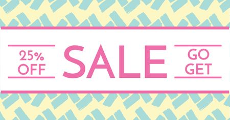 Template di design Sale announcement on cute pattern Facebook AD