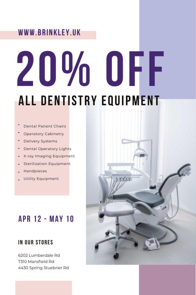 Szablon projektu Dentistry Equipment Sale with Dentist Office View Tumblr