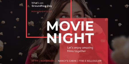 Szablon projektu Movie night event poster Image