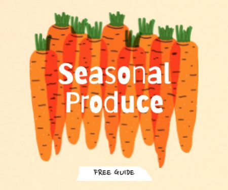 Plantilla de diseño de Seasonal Produce Ad with Carrots Illustration Medium Rectangle