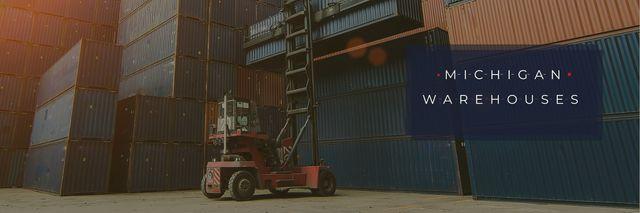 Plantilla de diseño de Michigan warehouses poster Twitter