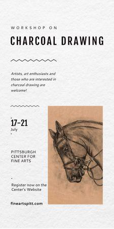 Szablon projektu Drawing Workshop Announcement Horse Image Graphic
