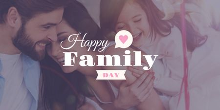 Template di design happy family day poster Image