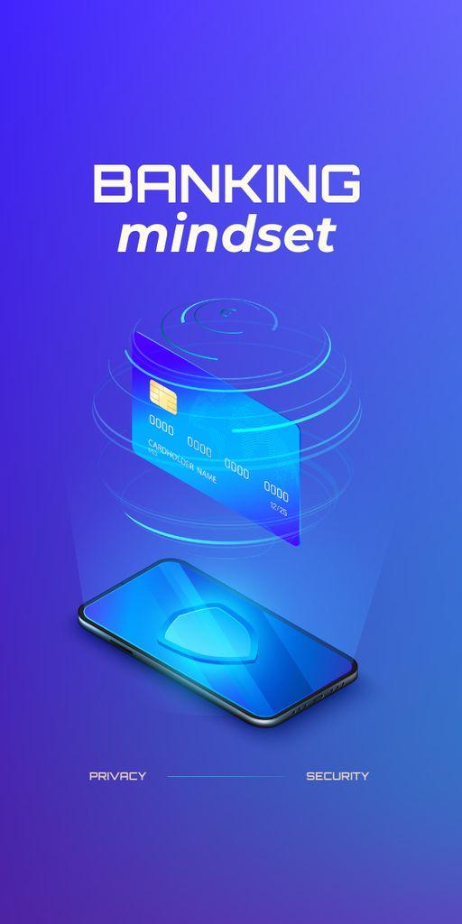 Modèle de visuel Banking Services on Phone screen - Graphic