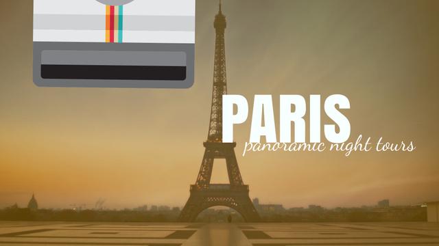 Tour Invitation with Paris Eiffel Tower Full HD video Modelo de Design