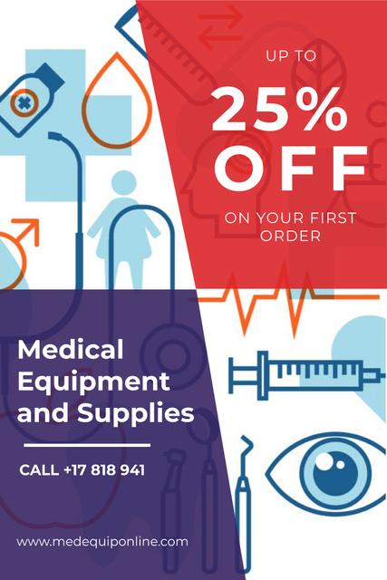 Medical equipment and supplies Pinterest Tasarım Şablonu