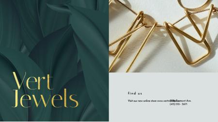 Designvorlage Jewelry Sale Shiny Chain Necklace für Full HD video