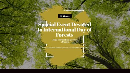 International Day of Forests Event Tall Trees FB event cover Modelo de Design