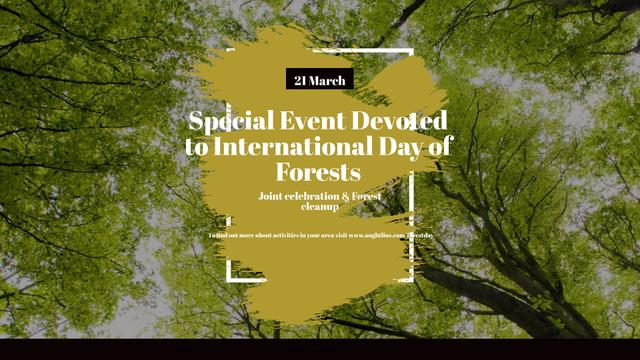 Template di design International Day of Forests Event Tall Trees FB event cover