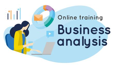 Business Analysis Courses Woman Working on Report Youtube Thumbnail Modelo de Design