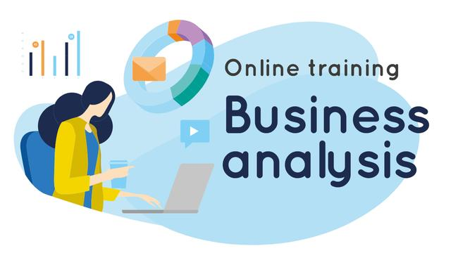 Business Analysis Courses Woman Working on Report Youtube Thumbnail – шаблон для дизайна