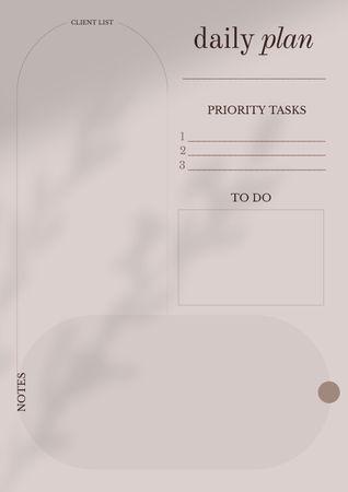 Platilla de diseño Daily Tasks Planning Schedule Planner