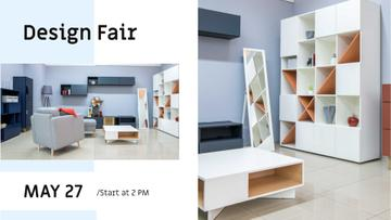 Design Fair Announcement with Modern Interior