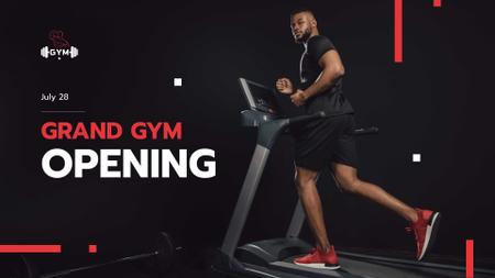 Ontwerpsjabloon van FB event cover van Gym Opening Announcement with Athlete