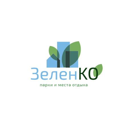 Parks And Recreations Icon with Leaves on Houses Logo – шаблон для дизайна