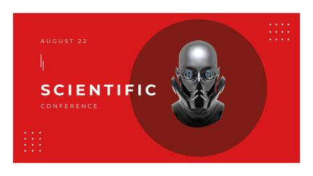 Plantilla de diseño de Scientific Conference Announcement with Modern Robot FB event cover