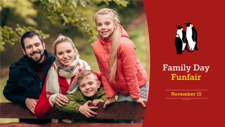 Modèle de visuel Family Day Announcement with Parents and Kids - FB event cover