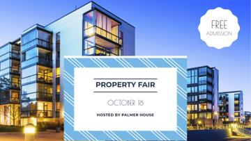 Property Fair Ad with Modern Houses