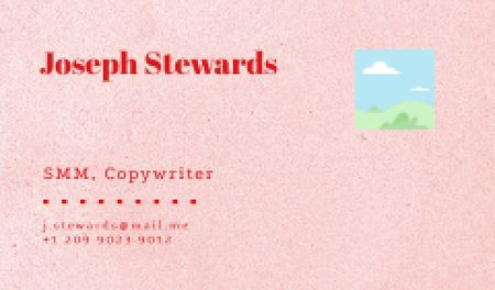 Ontwerpsjabloon van Business card van Professional Copywriter contacts
