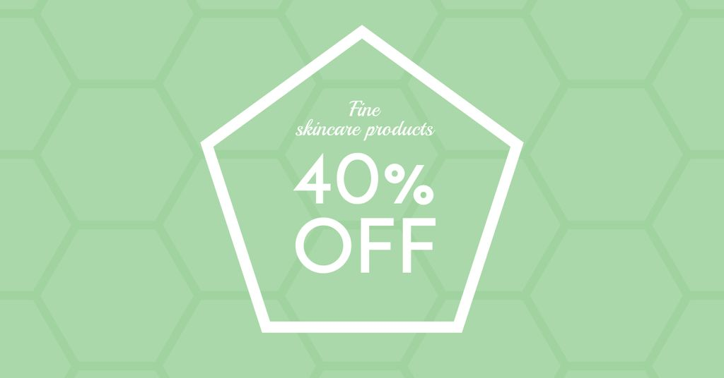 Skincare Products Discount Offer Facebook AD Design Template
