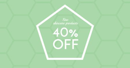Skincare Products Discount Offer Facebook AD Πρότυπο σχεδίασης