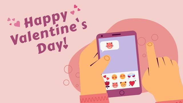 Template di design Man sending Valentine's Day messages Full HD video