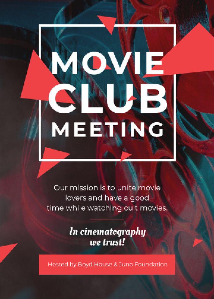 Movie Club Meeting Vintage Projector — Створити дизайн
