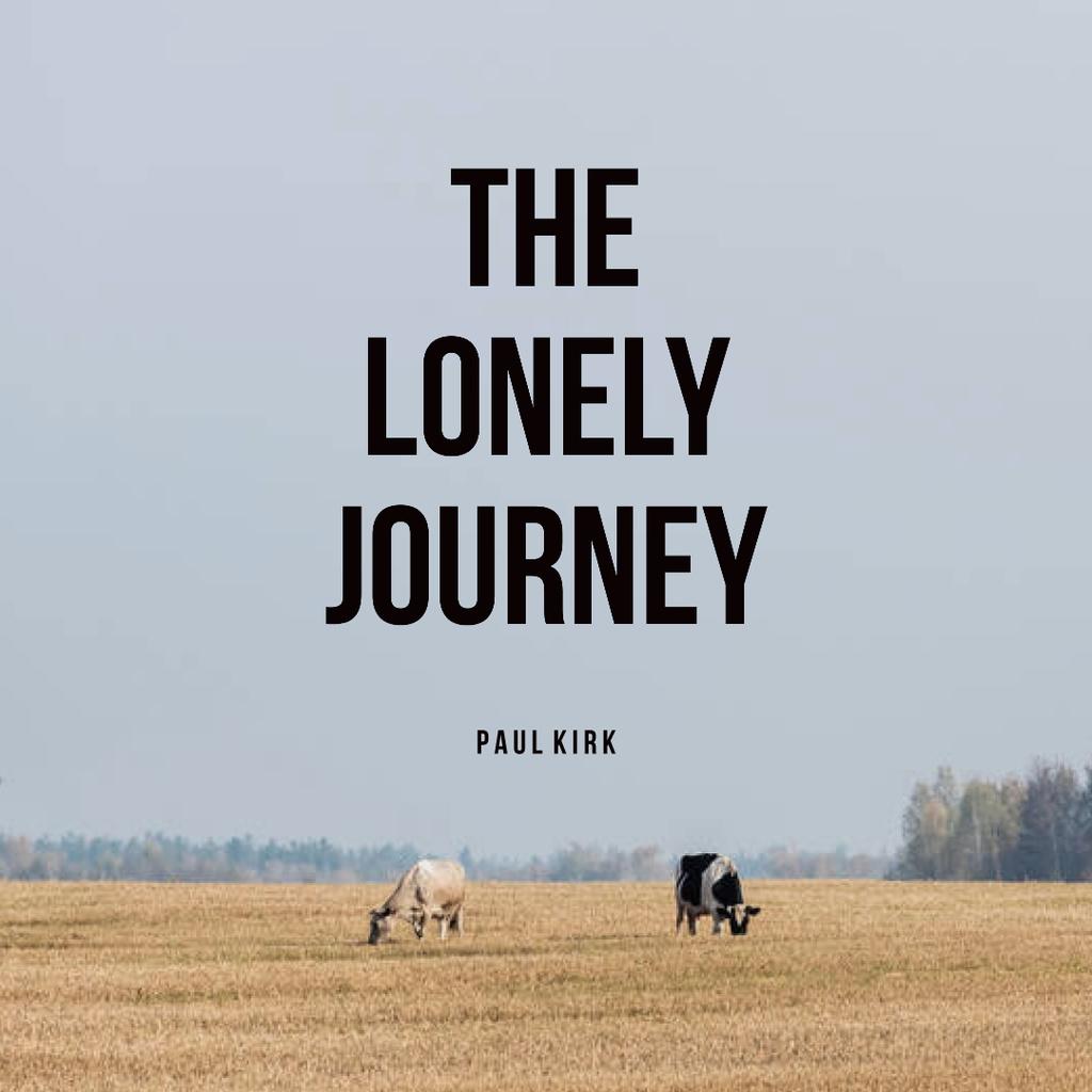 Beautiful Landscape with Cows on Field Instagram – шаблон для дизайна