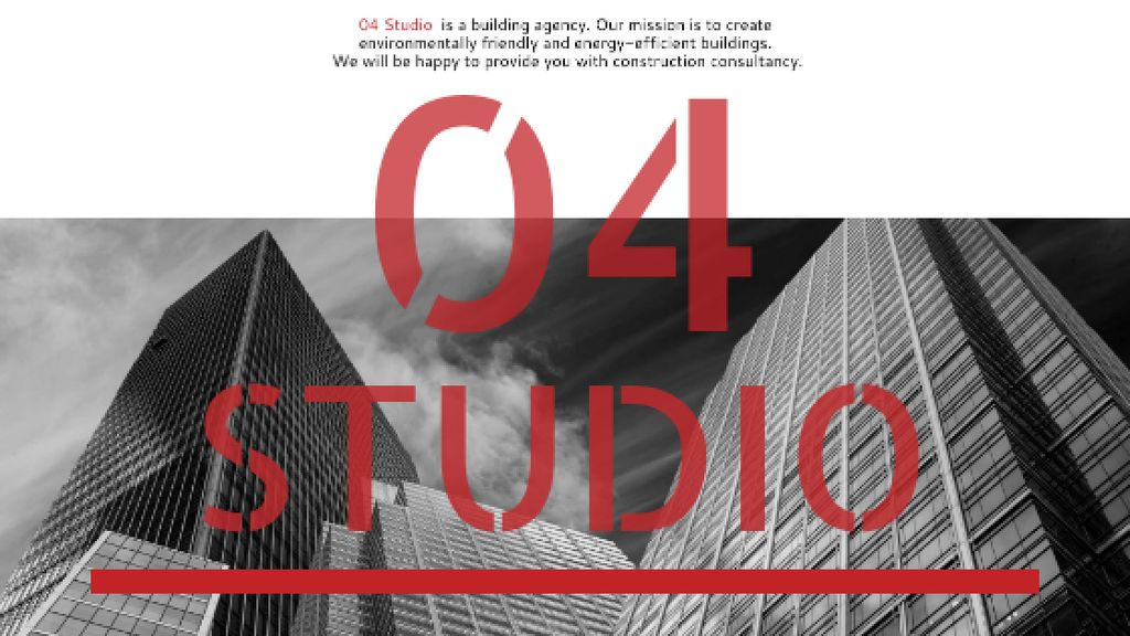 Building Agency Ad Modern Skyscrapers Title Modelo de Design