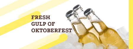 Oktoberfest Fresh Beer Offer Facebook coverデザインテンプレート