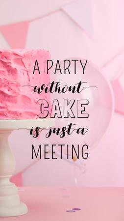 Party Organization Services with Cake in Pink Instagram Story Design Template