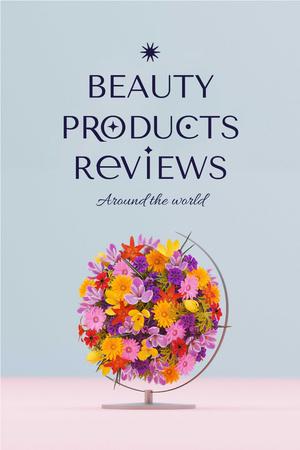 Plantilla de diseño de Beauty Ad with Bright Floral Bouquet Pinterest
