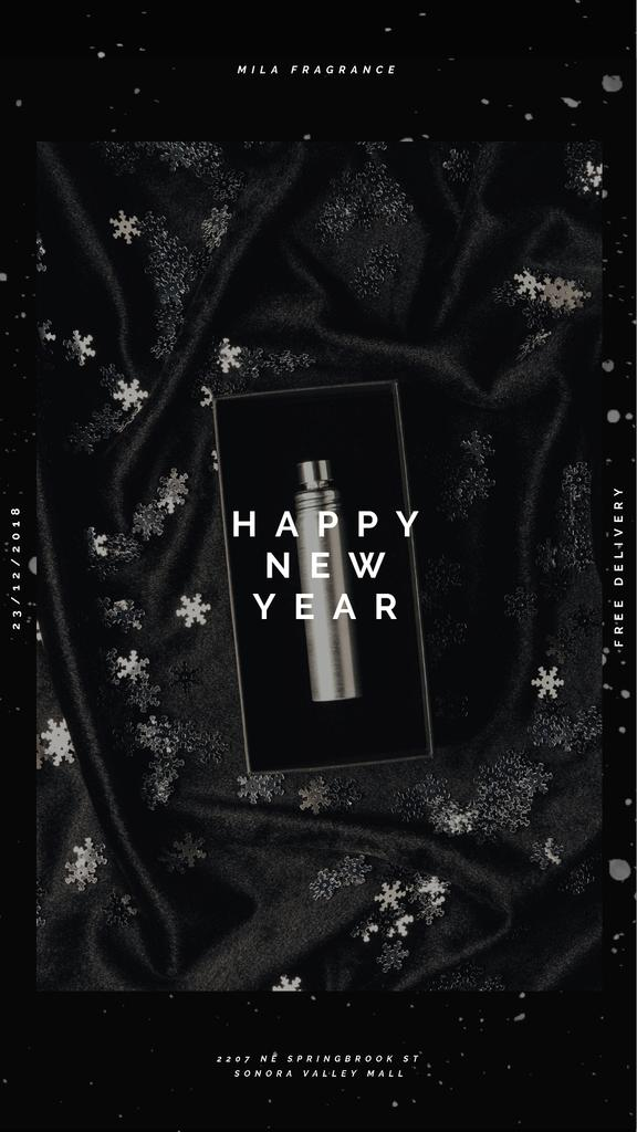 New Year Gift Box with Perfume Bottle — Create a Design
