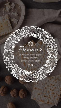 Template di design Happy Passover Unleavened Bread and Nuts Instagram Video Story