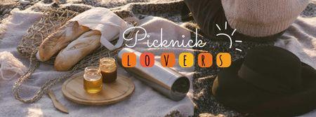 Plantilla de diseño de Picnic at Sunset beach Facebook cover