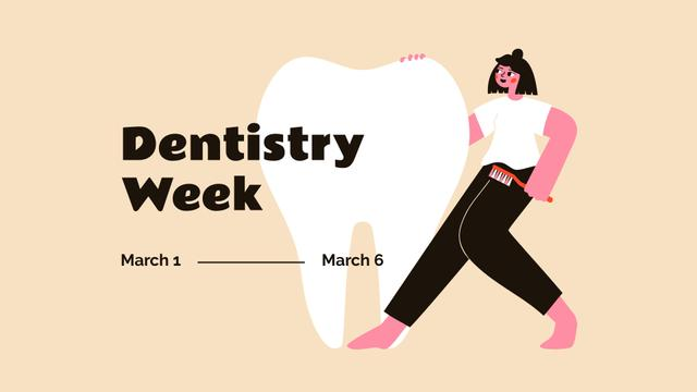 Dentistry Week announcement FB event cover Modelo de Design