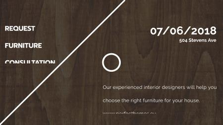 Furniture Company ad on Dark wooden surface FB event cover Modelo de Design