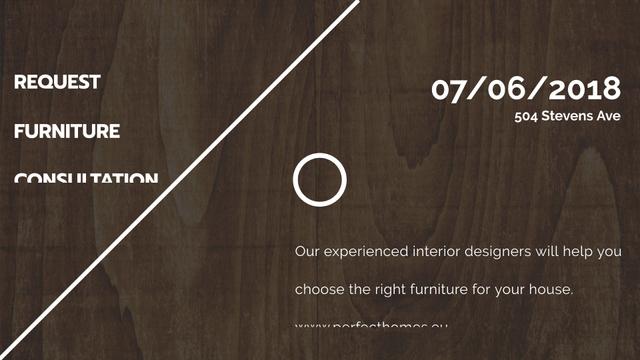 Designvorlage Furniture Company ad on Dark wooden surface für FB event cover