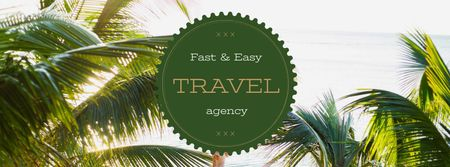Szablon projektu Summer Trip Offer Tropical Palm Trees Facebook cover