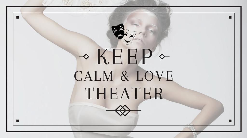 Modèle de visuel Theater Quote with Woman Performing in White - Youtube