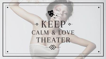 Template di design Theater Quote with Woman Performing in White Youtube
