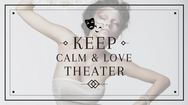 Theater Quote with Woman Performing in White Youtube Design Template