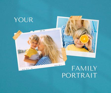 Happy Mom holding Little Son Facebook Modelo de Design