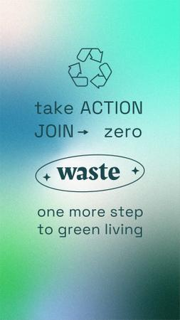 Template di design Zero Waste concept with Recycling Icon Instagram Story