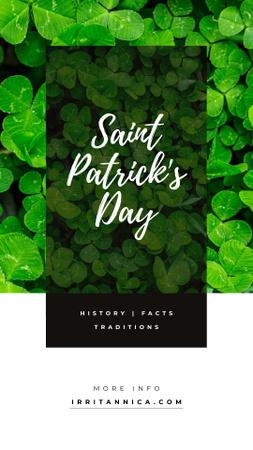 Plantilla de diseño de Saint Patrick's Day Clover Leaves Instagram Story