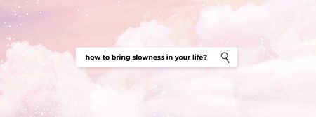 Ontwerpsjabloon van Facebook cover van Mental Health Inspiration on pink clouds