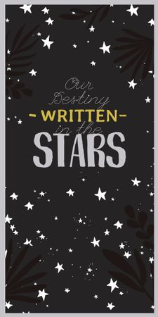 Astrology Inspiration with Cute Stars Graphic Design Template