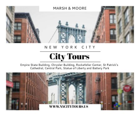 New York city tours advertisement Large Rectangleデザインテンプレート