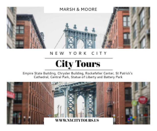 New York city tours advertisement Large Rectangle Design Template